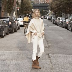 Carolyn Murphy proves you don't have to rock stilettos to have NYC street style cred.