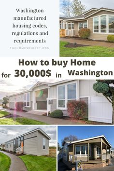 Washington Manufactured Housing Codes, Regulations, and Requirements. THE DEPARTMENT OF LABOR AND INDUSTRY HAS AUTHORITY FOR ESTABLISHING MANUFACTURED HOME INSTALLATION STANDARDS, MANUFACTURED HOME INSPECTIONS Cheap Mobile Homes, Mobile Homes For Sale, Manufactured Housing, Home Inspection, Washington, Shed, Construction, Outdoor Structures, Outdoor Decor