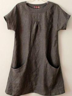Pockets Short Sleeve Cotton-Blend T-Shirts – AdoreNana Shirts & Tops, Casual T Shirts, Women's Tops, Long Sleeve Tops, Long Sleeve Shirts, Types Of Sleeves, Dresses With Sleeves, Shorts With Pockets, Mode Style