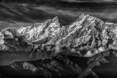 2013 Readers' Contest Winners Gallery | Popular Photography Magazine - Himalayas in B&W by Brian Christie --- Looking north to the Himalayan Range from the town of Bandipur, Nepal.