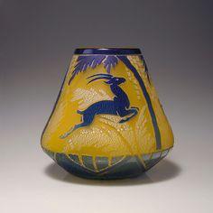 Large vase, c1930 - Muller Freres Luneville
