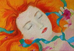 Ethereal Girl No. 4 by Giselle Vidal McMenamin Oil ~ 5 x 7