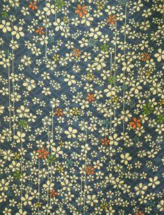 Vintage Japanese fine rinzu silk kimono fabric