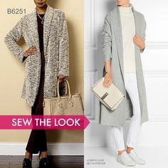 Sew the Look: Butterick B6251 sweater coat sewing pattern.