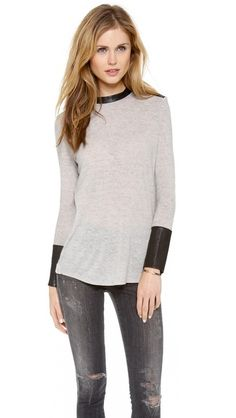 Helmut Lang Long Sleeve Sweater. I want this entire outfit. The shoes!!