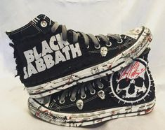 Black Sabbath Converse by Chad Cherry by ChadCherryClothing