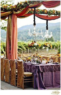 Entertaining near the vineyard