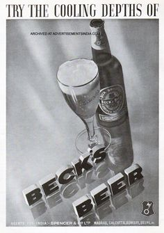 Beck's Beer Poster, 1930s
