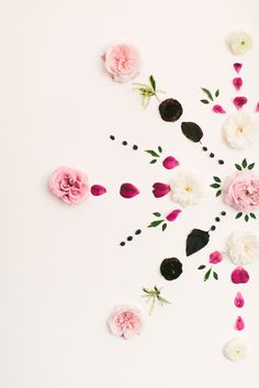 DIY fresh floral mandala backdrop: http://www.stylemepretty.com/living/2015/06/26/summer-diys-infused-with-florals/