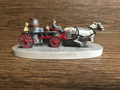 Sebastian Miniature-Steam Pumper-Horse Drawn Firefighter-Early Era Nostalgia, Woody Baston, 1987 by GoldenGateBoutique on Etsy