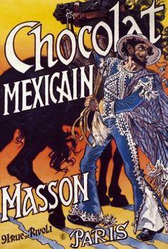 Chocolat Mexicain Masson Paris vintage poster G81119 , Vintage Poster Market…
