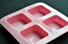 Flexible Silicone Silicon Soap Molds Cake Molds Chocolate Molds - 4 Square Bar