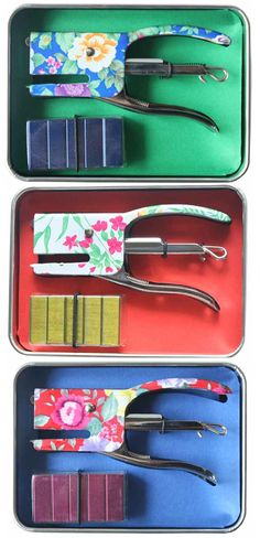 mini floral staplers from fabriano boutique