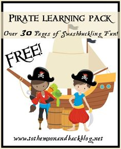 Lots of cute free printables---Pirates on the Farm by Denette Fretz, Illustrated by Gene Barretta - To the Moon and Back
