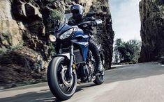 Download wallpapers Yamaha MT-07, rider, 2018 bikes, road, superbikes, new MT-07, Yamaha