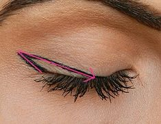 I've seen tons of winged eyeliner tutorials but I saw this picture and it made it so much easier