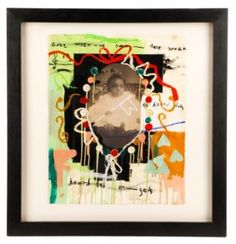 Radcliffe Bailey 1997 Mixed Media Painting w/Photo : Lot 975