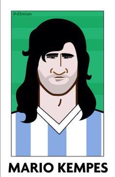 Mario Kempes, campeón mundial 1978. El Matador!