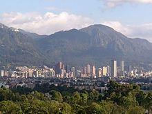 Bogotá – Ausblick zum Monserrate