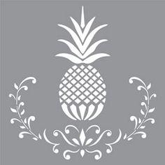"Americana Decor-plantillas-Posh piña-12 ""X 12""-Decoart"