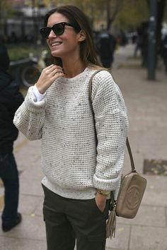 Spanish fashion blogger Gala Gonzalez carrying the Gucci Soho Disco Bag