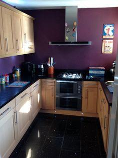 Small kitchen ideas ,sparkly granite floor