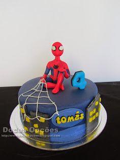 Doces Opções: O Homem Aranha no 4º aniversário do Tomás