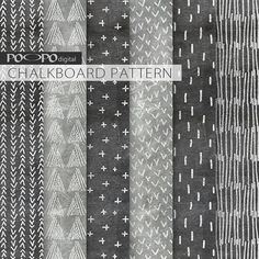 chalkboard digital paper pattern scrapbook hand by POandPOdigital