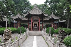 The Great Mosque of Xian. Founded in 742 but reconstructed in the Ming and further expanded in the Qing. The exterior is fundamentally Chinese. Accessed 7/26