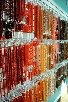 Come see the bead walls at our bead store, Panama City, FL   LH Bead Gallery