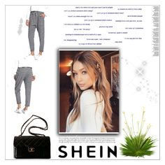 """""""SHEIN"""" by siimmii ❤ liked on Polyvore featuring Chanel"""
