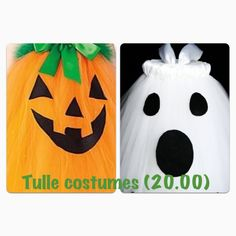 Pumpkin or Ghost tulle costume.