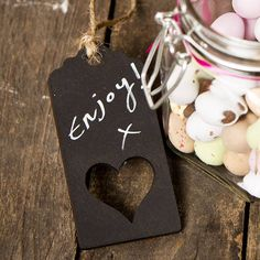 love heart blackboard gift tag by sophia victoria joy | notonthehighstreet.com