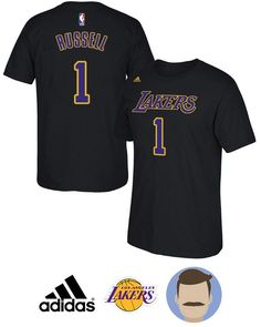 Gear up for your Lakers big game with this Men's Lakers #1 D'Angelo Russell Black Sleeved T-Shirt which features Climacool technology to keep you cool and dry through all the on-court action. It also has team graphics on the front and your favorite D'Angelo Russell's name on the back. With sleek sty