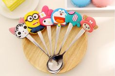 Discount Special Cartoon Stainless Steel Spoon Cute Silicon Handle Colher Children Soup Ladle Fashion Coffee Mixing Spoon From China   Dhgate.Com