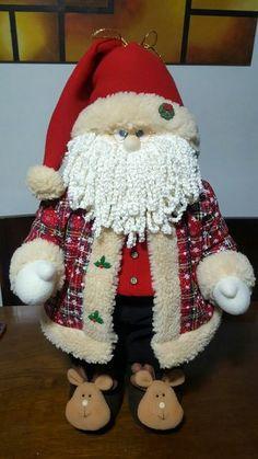 Santa Claus by Nanys Crafts Christmas Applique, Christmas Gnome, Country Christmas, Christmas Art, Beautiful Christmas, Vintage Christmas, Christmas Stockings, Christmas Decorations, Primitive Santa