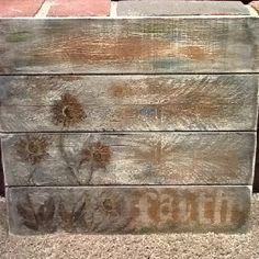 Faith on distressed wood