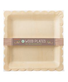 Look at this Wood Scallop Plate - Set of 12 on #zulily today!