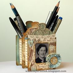 Sizzix Die Cutting Inspiration and Tips: Die Cutting Paper: Pen Holder - inspiration