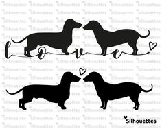 SVG Dachshund dog silhouette Vector file for by LoveSilhouettes