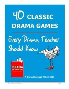 Drama games! Enjoy this free collection of drama games brought to you by Drama Notebook. New to teaching drama? Learn the classic drama activities. Been teaching for years? Test your knowledge!Drama Notebook is a website featuring the world's largest collection of drama games, activities, lesson plans, video tutorials and more.