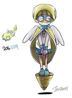 Pokemon Gijinka 206. Dunsparce