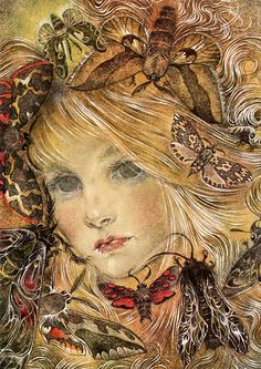 Hurt no living thing: Ladybird, nor butterfly, Nor moth with dusty wing. ~Christina Georgina Rossetti - Art by Sulamith Wülfing