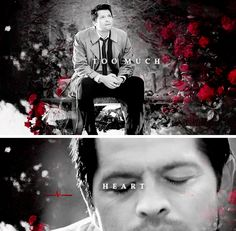 """You know that there are some in Heaven that believe despite his mistakes, that Castiel's heart was always in the right place... I think too much heart was always Castiel's problem."" #spn"
