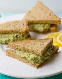 Lemon Jalapeño Asparagus Cashew Salad Sandwiches: lots of ingredients, only a little bit of prep, and big flavor.