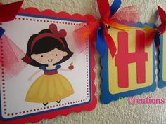 Snow White Birthday Banner by 21Creations on Etsy, $30.00