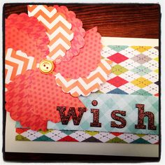 """A birthday card using a 2"""" scallop punch to create a whimsical flower."""