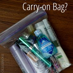 How to Pack a Lighter Carry-On:  What's in my Liquid Bag?