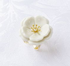 Browse Porcelain Plum Blossom Statement Ring and more from POPORCELAIN at Wolf & Badger - the leading destination for independent designer fashion, jewellery and homewares. Fashion Jewelry, Women Jewelry, Open Ring, Porcelain Jewelry, Statement Rings, Plum, Delicate, Stud Earrings, Pure Products