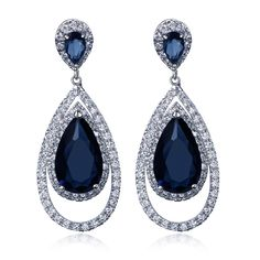 Women Earring long Drop Earrings Gold-color with CZ stone Classic style fashion jewelry High quality Free shipment